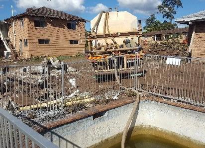 Demolition of swimming pool