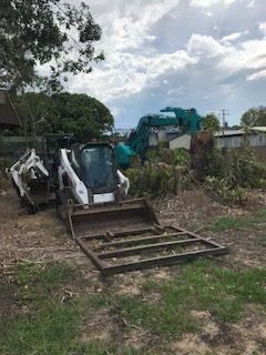 site cleanup earthmoving equipment donnybrook