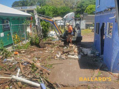 Scrub Clearing Before House Demolition