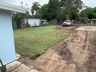 landscaping donnybrook laying of turf