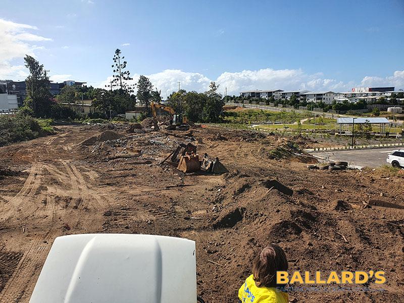 clearing of site buildings scrub brisbane