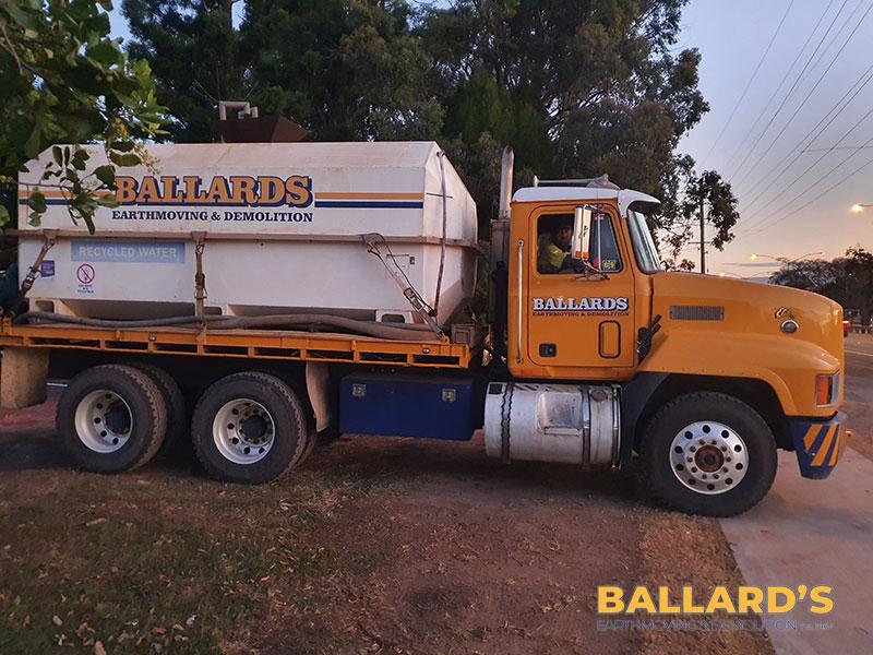 dust control during demolition water truck brisbane