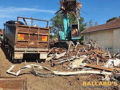 House Demolition Progress Ashgrove Brisbane