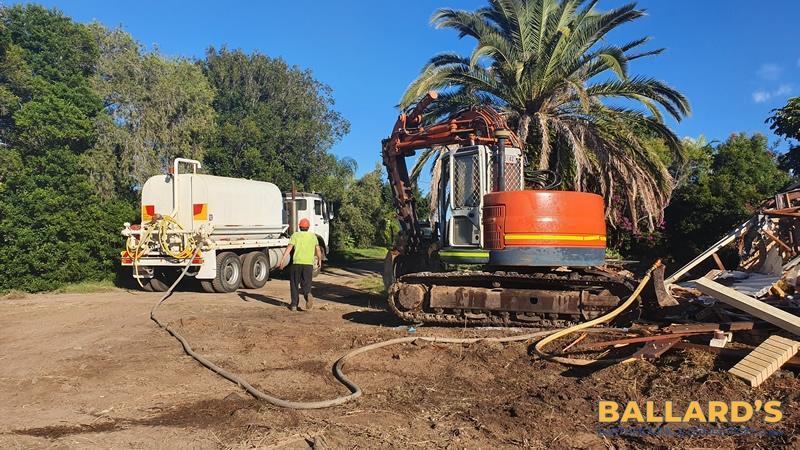 water trucks dust reduction